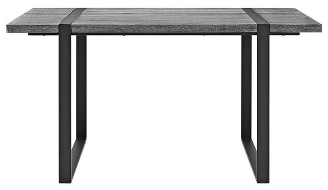 We Furniture 60 Urban Blend Wood Dining Table, Charcoal.
