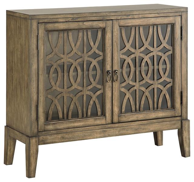 2-Door Cabinet, Distressed Parchment.