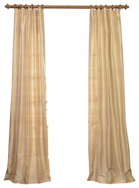 maplewood textured dupioni silk curtain single panel
