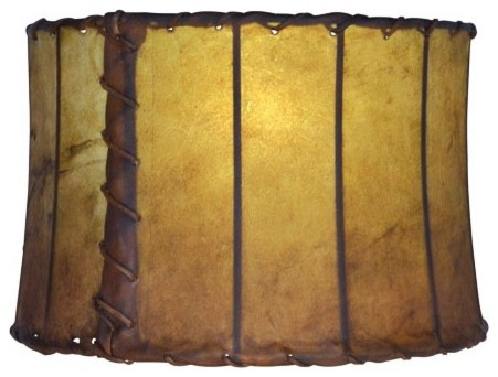 Leather 16 Drum Floor Lamp Shade Rustic Lamp Shades By Timeless Wrought Iron
