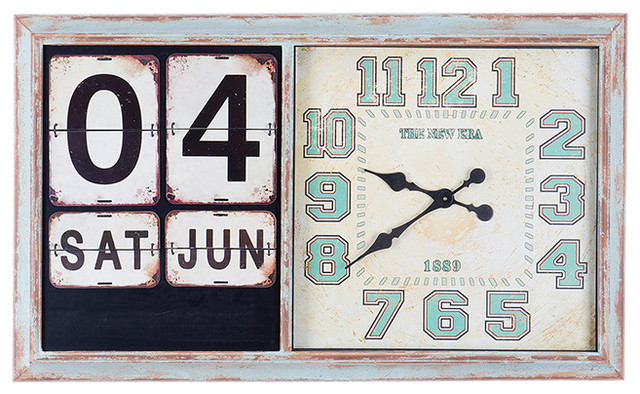 Verdi Iron Wall Clock With Calendar