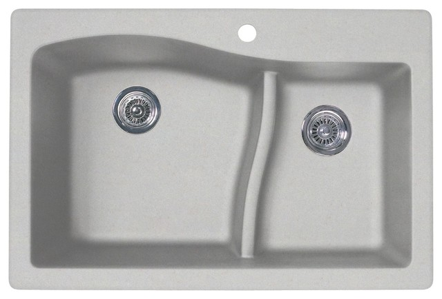 Swan Granite Large Small Bowl Kitchen Sink 33 X22 Granito