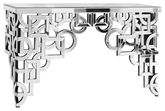 "58""x18"" Silver/clear Mirror Table Home Decor."