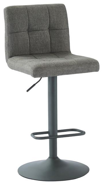 Admirable Adjustable Height Fabric Stool Gray Set Of 2 Creativecarmelina Interior Chair Design Creativecarmelinacom