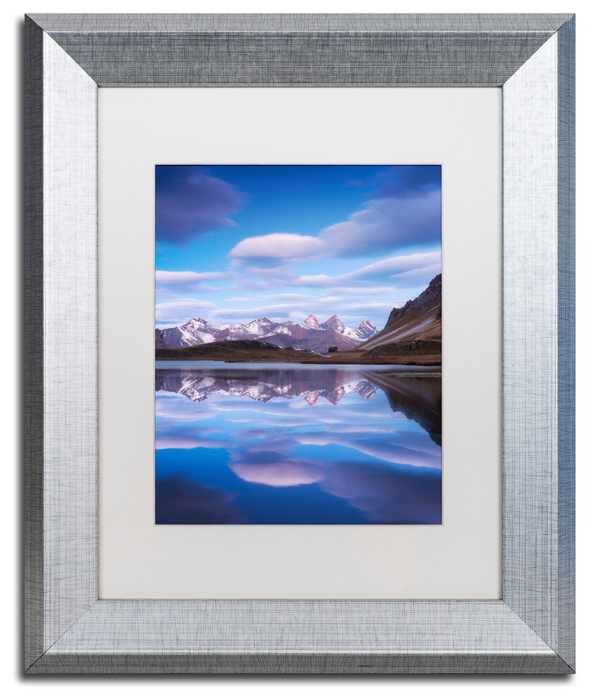 Mathieu Rivrin Blue Planet Matted Framed Art Contemporary Prints And Posters By Trademark Global