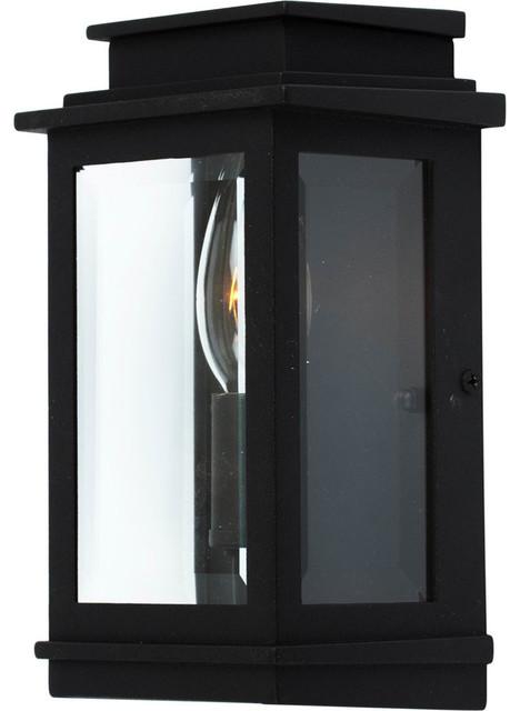 Fremont 1-Light Black Outdoor Wall Light.