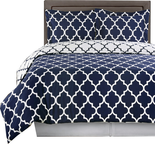 Meridian 100 Cotton Printed Duvet Cover Set Mediterranean Duvet