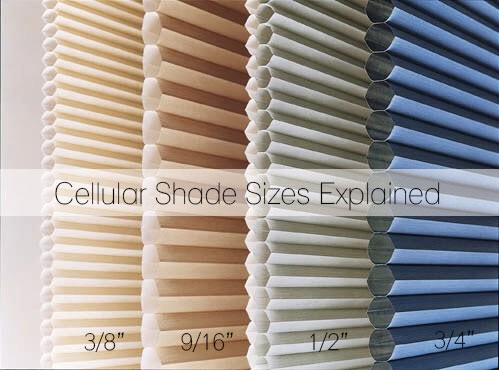 Honeycomb blinds cell size for noise