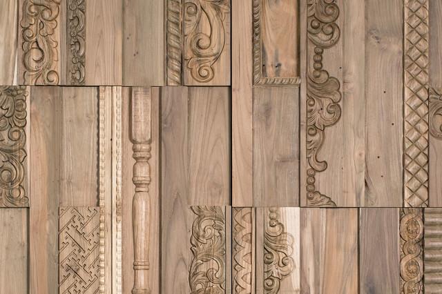 Reclaimed Wood Tiles, Phoenix, 3.87 Sq.Ft. rustic-wall-panels - Reclaimed Wood Tiles, Phoenix, 3.87 Sq.Ft. - Rustic - Wall Panels
