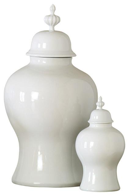 Large Decorative Jars Endearing Global Views  Global Views Beaufort Ginger Jar White & Reviews Review