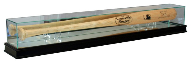 Glass Baseball Bat Display Case Traditional Sports And