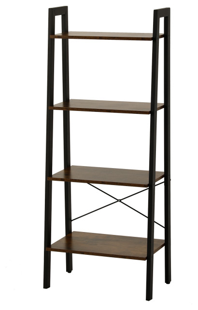 "CO-Z 54"" 4-Tier Ladder Shelf Bookcase For Storage Display"