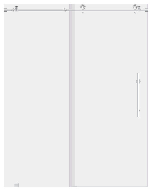 Ultra C Collection Frameless 10mm Clear Tempered Glass Shower Doors