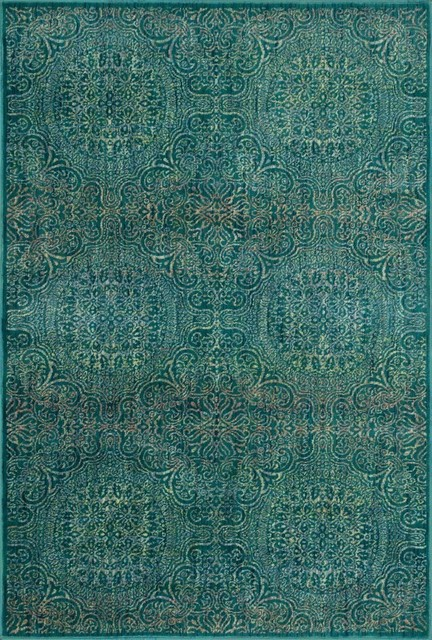 Loloi Madeline Collection Rug Teal and Multi Transitional