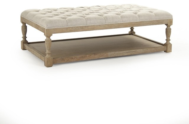 Exceptionnel Rectangular Tufted Ottoman