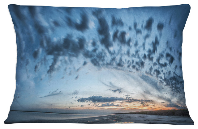 x 18 in Designart CU11731-18-18 Manych Rissua Lake Panorama Landscape Printed Cushion Cover for Living Room Sofa Throw Pillow 18 in in Insert Side
