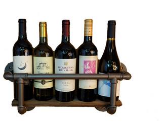 Iron Pipe Wine Rack Industrial Wine Racks By Ross