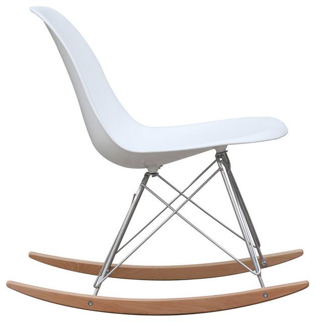 Magnificent Fine Mod Imports Rocker Living Room Side Chair White Lamtechconsult Wood Chair Design Ideas Lamtechconsultcom