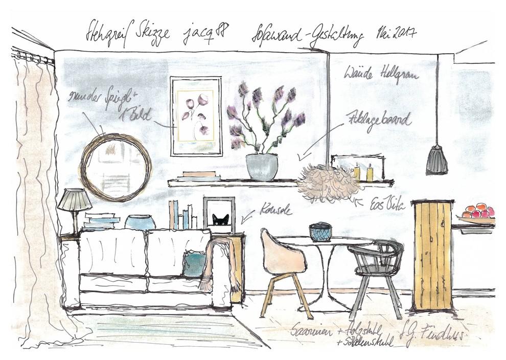 Stegreif Skizze II für jacq88 Gestaltung Sofawandseite