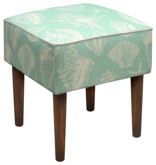 seashells modern vanity stool modern footstools and