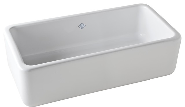 Rohl Rc3318wh, Shaws Original Lancaster Single Bowl Apron Front Fireclay Sink.