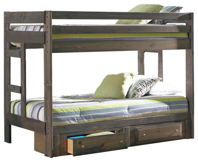 Jack Twin/Twin Bunk Bed Transitional Bunk Beds