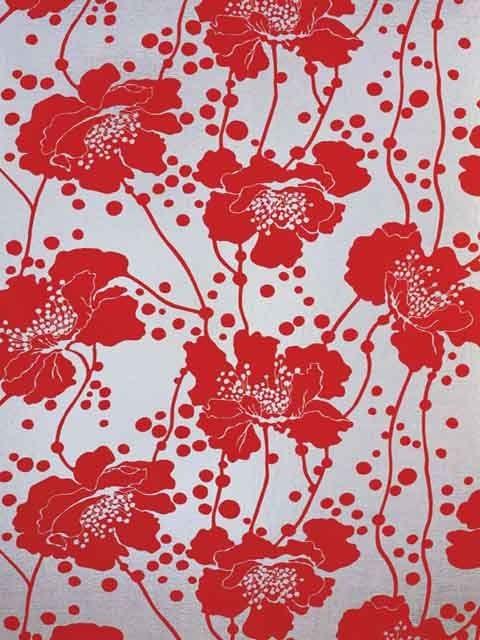 Florence Broadhurst Spotted Floral Wallpaper