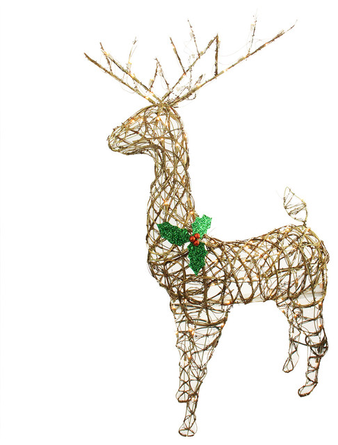 57 standing grapevine reindeer lighted christmas decoration clear lights