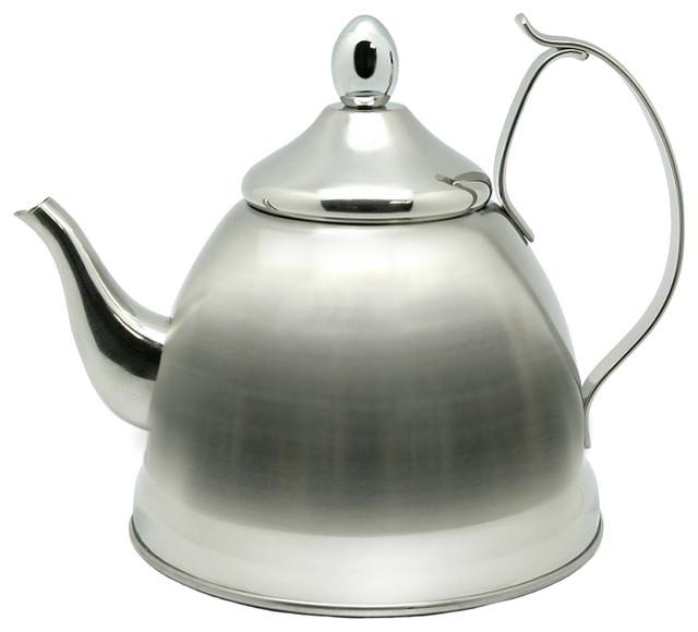 nobili tea stainless steel tea kettle and tea infuser 1 0 quart traditional kettles by. Black Bedroom Furniture Sets. Home Design Ideas