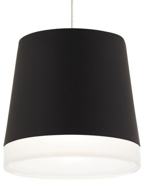 Tech lighting henrik low voltage monopoint pendant with canopy black contemporary pendant