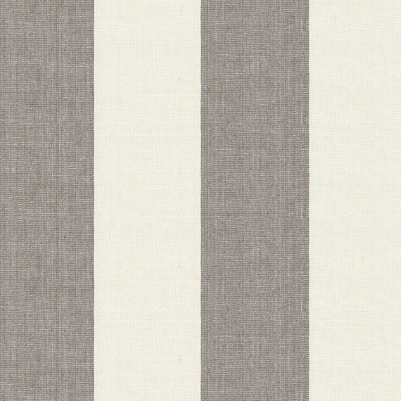 Shop Houzz Loom Decor Gray Linen Awning Stripe Fabric