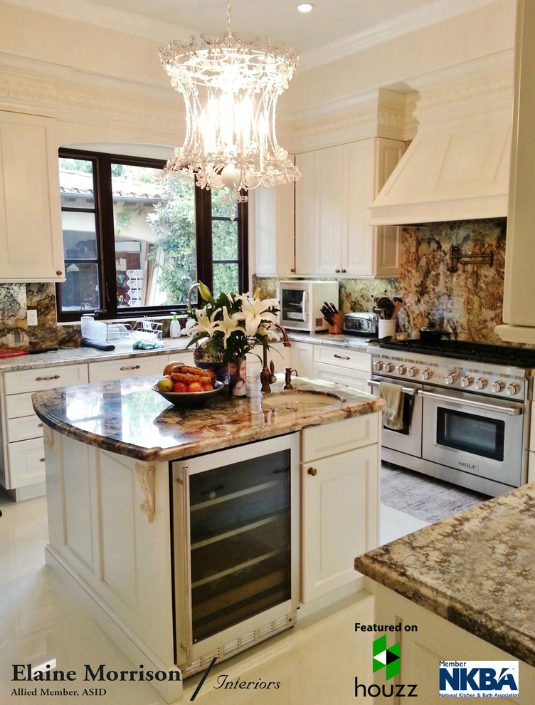 My Kitchen Remodel for a Client in Los Angeles featuring a Wolf Dual Fuel Range