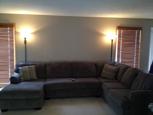 : floor lamps behind sectional sofas - Sectionals, Sofas & Couches