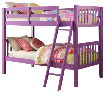 Purple Kids Bunk Beds Contemporary Bunk Beds By Custom Kids Furniture