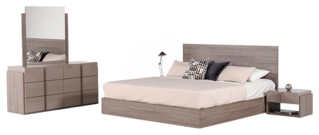 Nova Domus Marcela Italian Modern 5-Piece Bedroom Set, Eastern King.