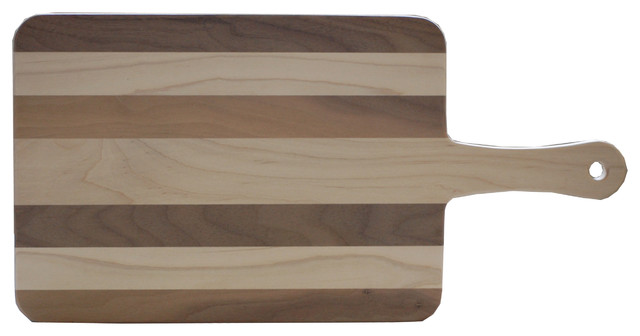 Walnut and Maple Wood Paddle Cutting Board, Small