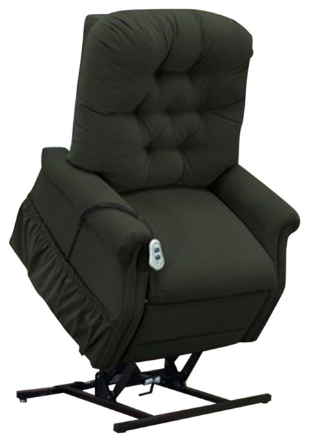Med Lift Wide Petite Three-Way Reclining Lift Chair, Aaron, Hunter by Medlift