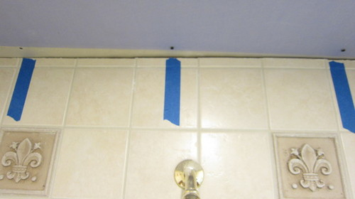 Gap between tiled shower wall and drywall ceiling - Tiling a bathroom wall on drywall ...