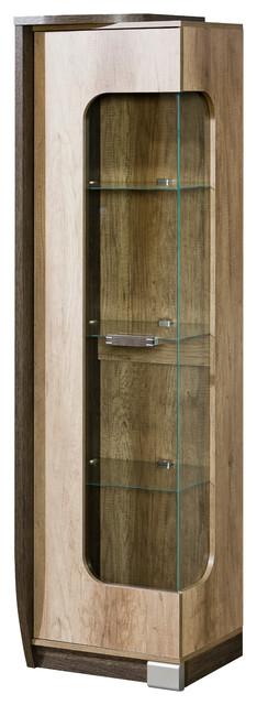 Romero Glass Door Display Cabinet, Left Side.