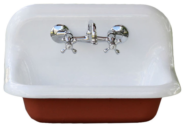 Red Porcelain Kitchen Sink