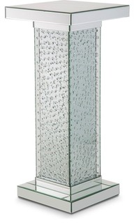 Alico Michael Amini Montreal Accent Table With Crystals, Medium