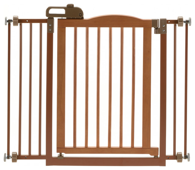 One Touch Pet Gate Ii Contemporary Dog Gates By