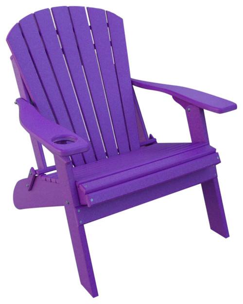 Poly Adirondack Oversized Big Boy Chair, Purple