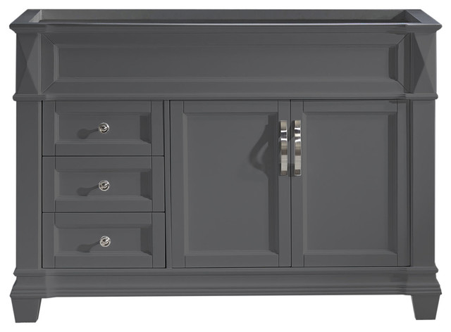 """Victoria 48"""" Cabinet Only, Gray"""