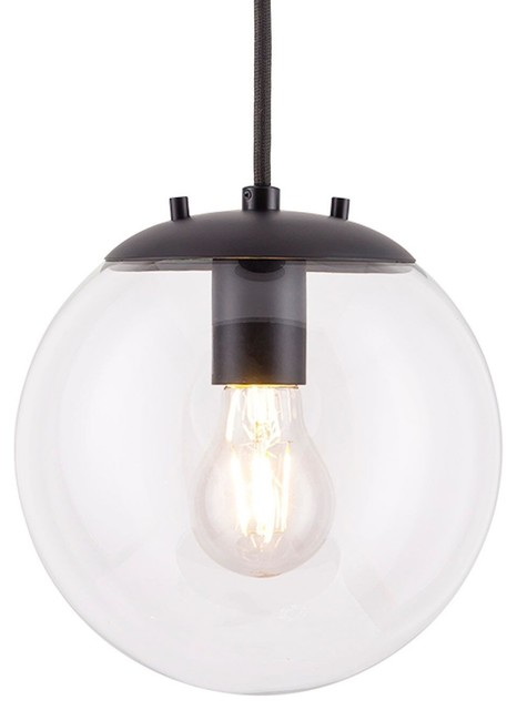 Sferra Pendant Light with Bulb, Black