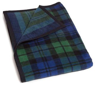 Midi Throw Blanket Black Watch Plaid Rustic Throws