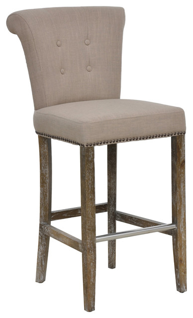 Rolo Barstool Transitional Bar Stools And Counter