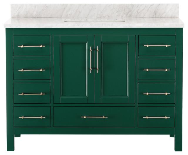 Kendall Emerald Green Bathroom Vanity - Contemporary ...