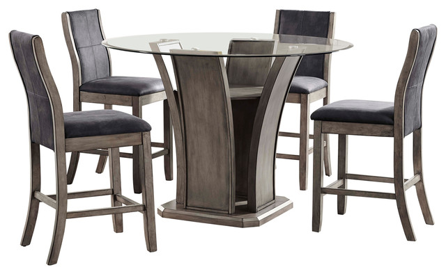 Picket House Furnishings Dylan Round Counter 5 Piece Dining Set Farmhouse  Dining Sets