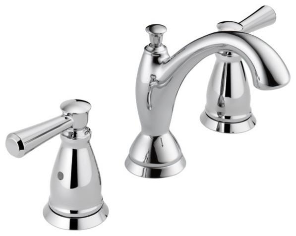 Delta Faucet 3538 Mpu Dst Lahara Polished Chrome Two: Delta Linden Widespread Bathroom Faucet 3593-MPU-DST